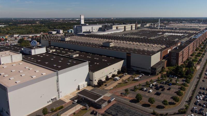 Panorama des Volkswagen Werks Hannover