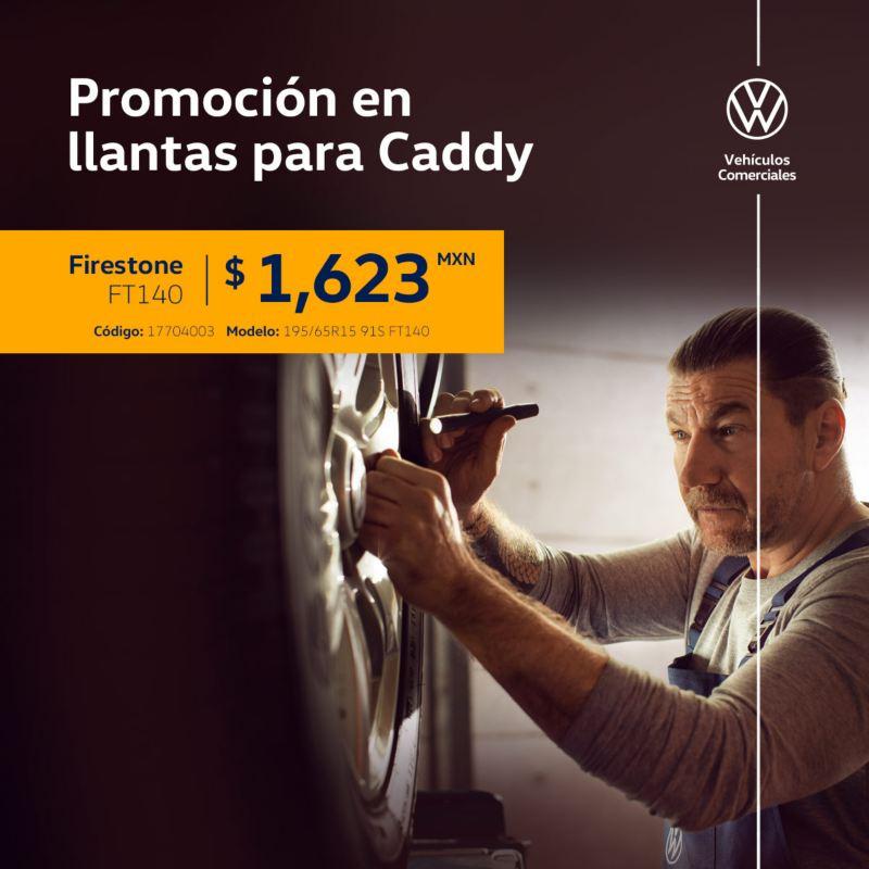 Promoción en llantas para Volkswagen Caddy