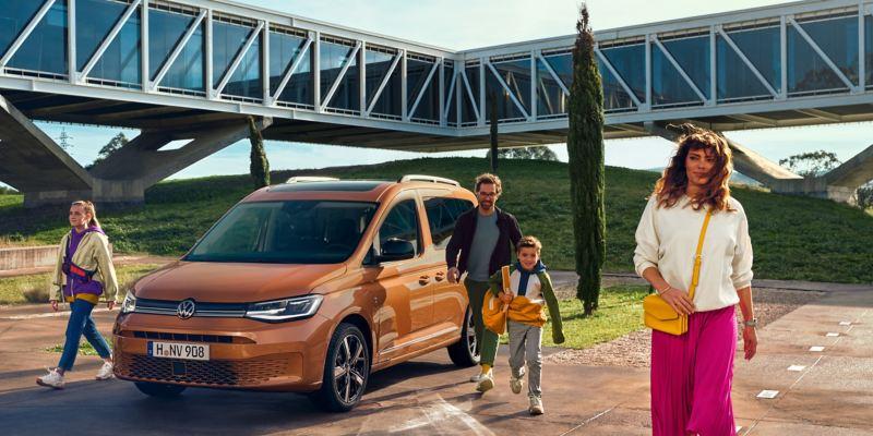 Le nouveau Volkswagen Caddy vu de loin