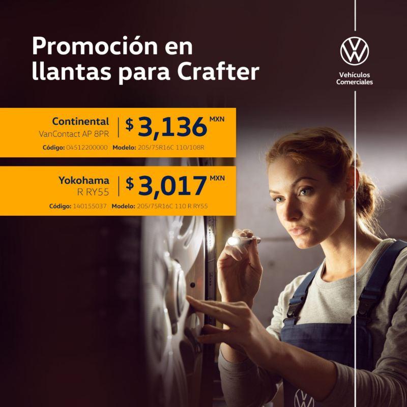 Promoción en llantas para VW Crafter