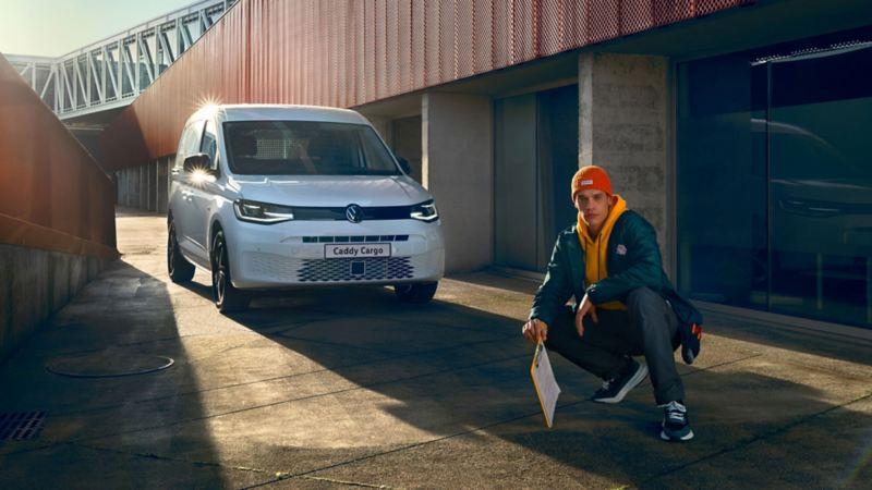 vw Volkswagen den nye Caddy Cargo varebil byggeplass entreprenører liten kompakt 3 seter
