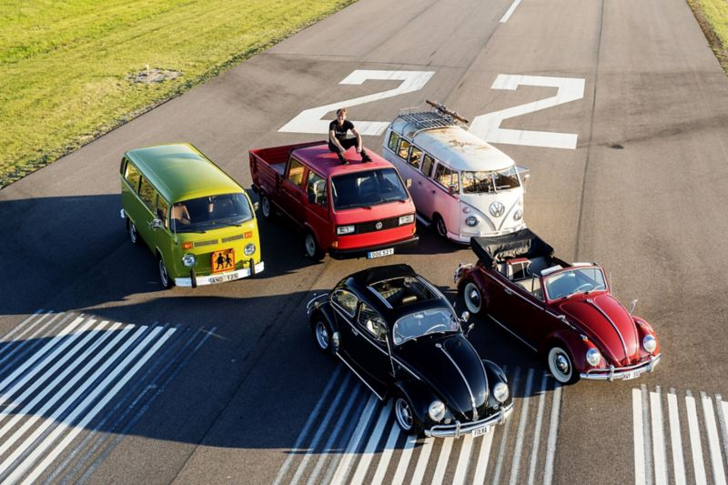 Per-Inge Mattson med sin Volkswagen-samling