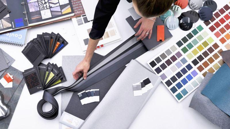 Dettaglio delle soluzioni cromatiche utilizzate per il design di Volkswagen ID.3