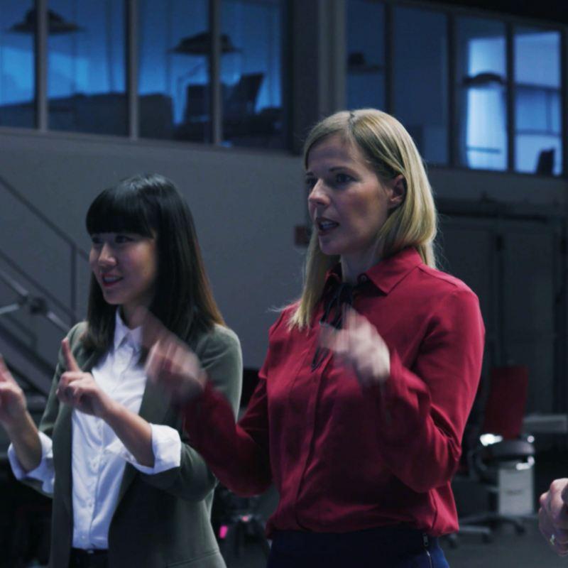 Sandra Sturmat discursa sobre o design de luzes do VW elétrico ID.3