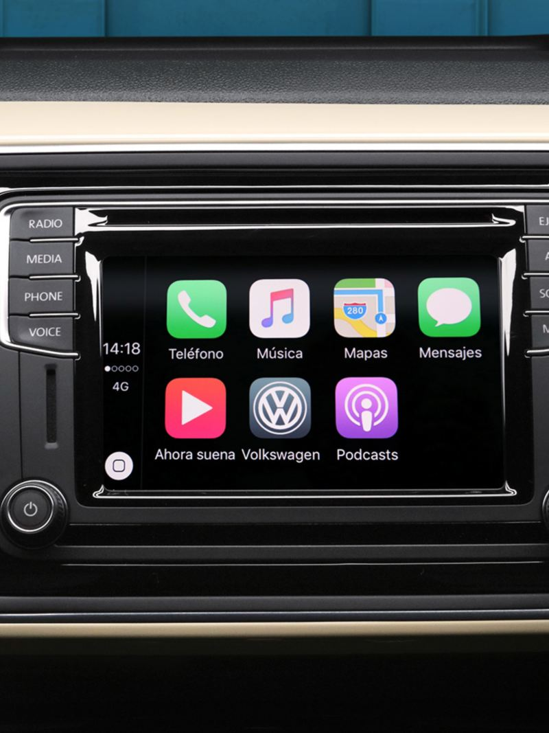 Pantalla de Radio dentro de Beetle Final Edition de Volkswagen