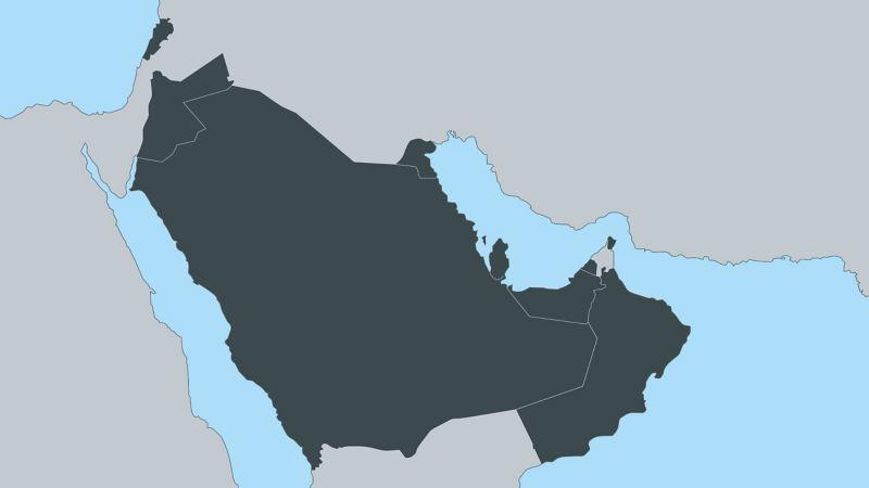 Illustration der Regionen des mittleren Ostens
