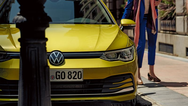La face avant d'une Volkswagen Golf 8