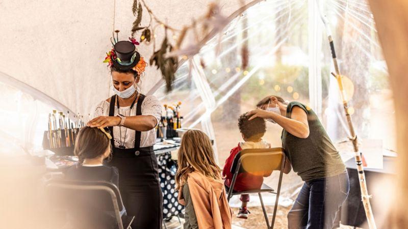 stand de maquillage au California Festival de LAcanau