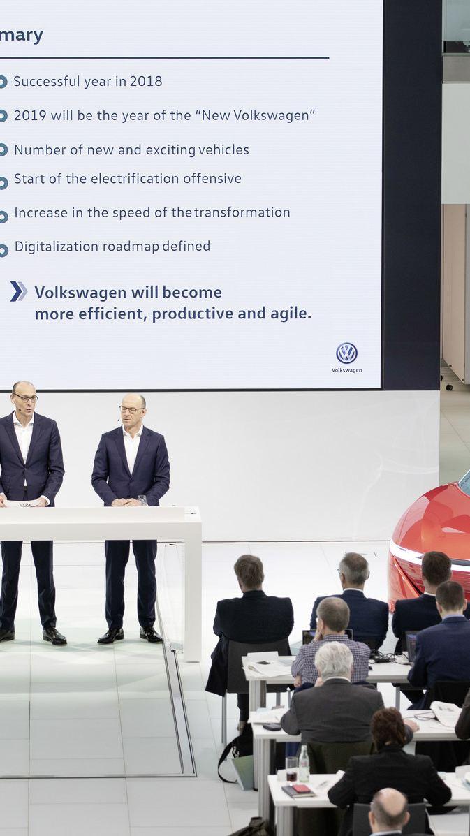 폭스바겐, 미래 주도권 확보 위한 혁신에 박차 가한다.