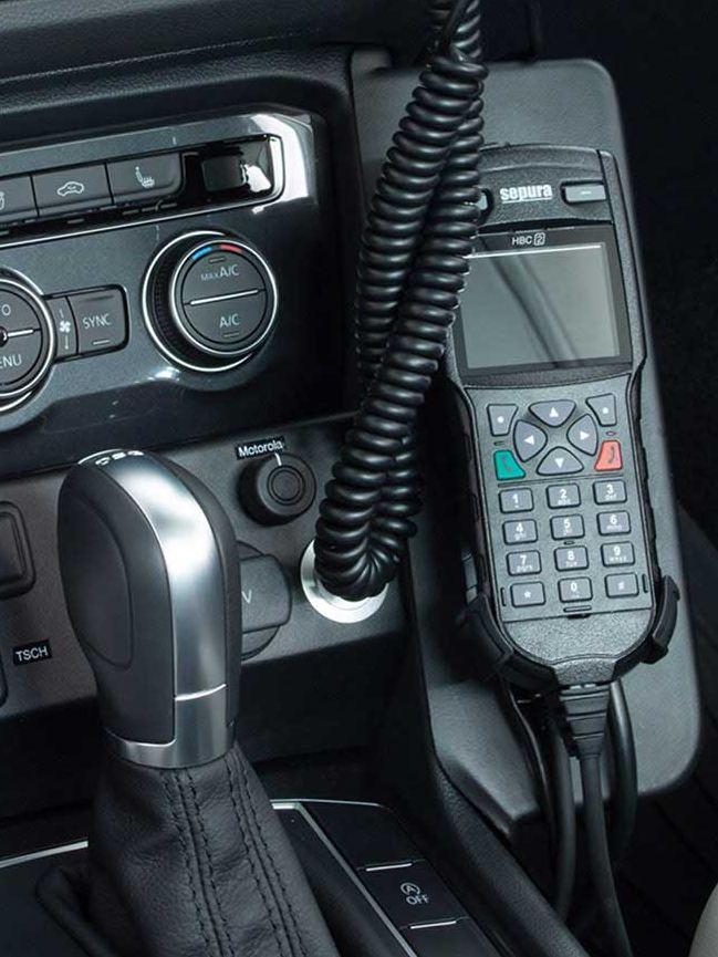 Volkswagen für Rettungsdienste – Bedienteil und Besprechanlage