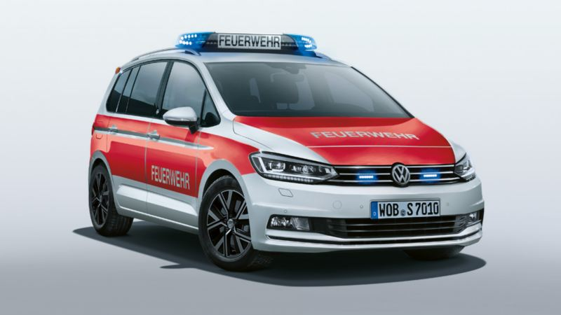 Volkswagen für Rettungsdienste – der Touran als Feuerwehr Kommandowagen KdoW