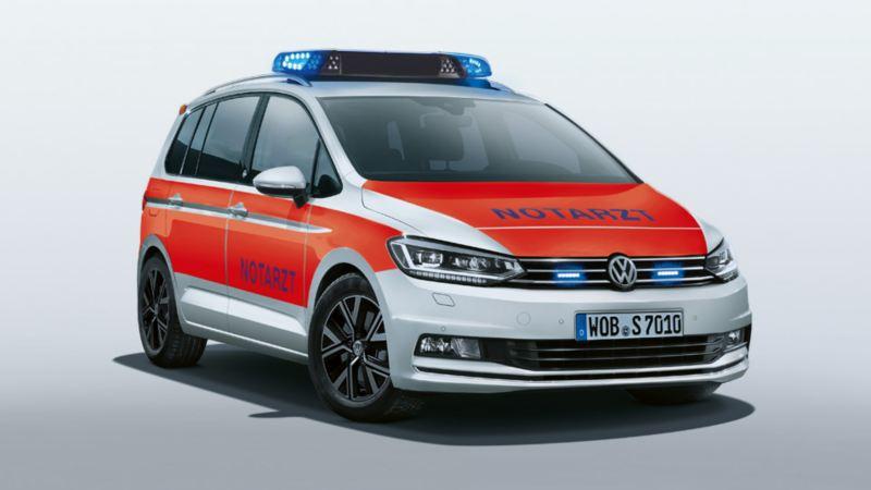 Volkswagen für Rettungsdienste – der Touran als Notarzteinsatzfahrzeug NEF