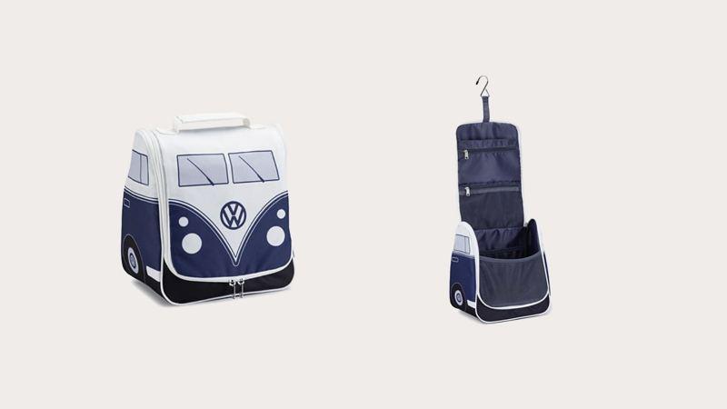 藍白雙色T1造型浴室用品懸掛收納包