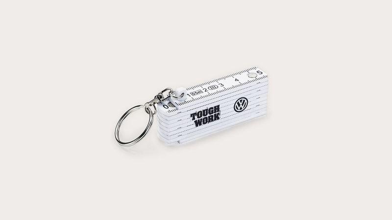 白色折疊式量尺鑰匙圈