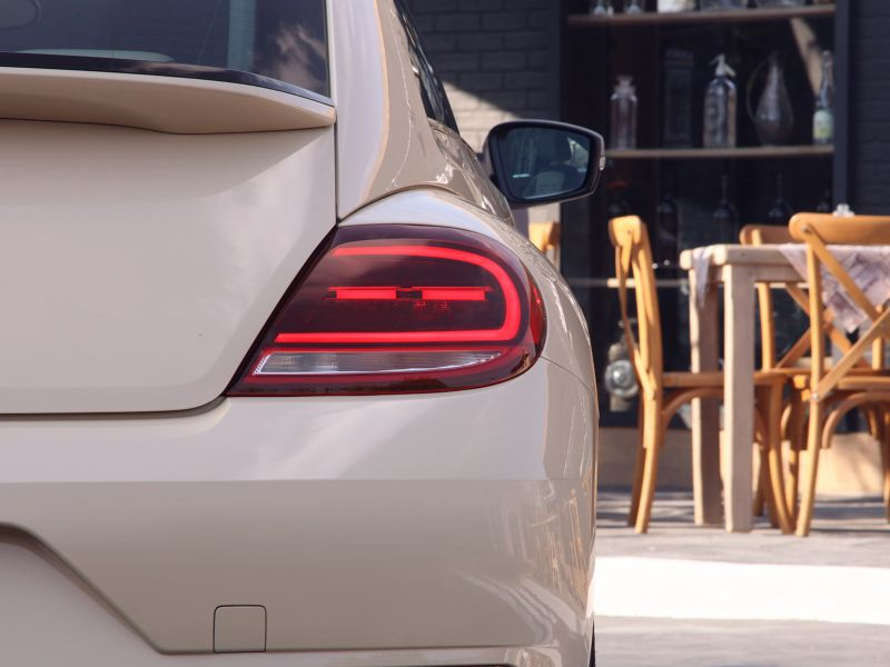 Faro trasero de Beetle Final Edition de Volkswagen, la última edición del auto clásico