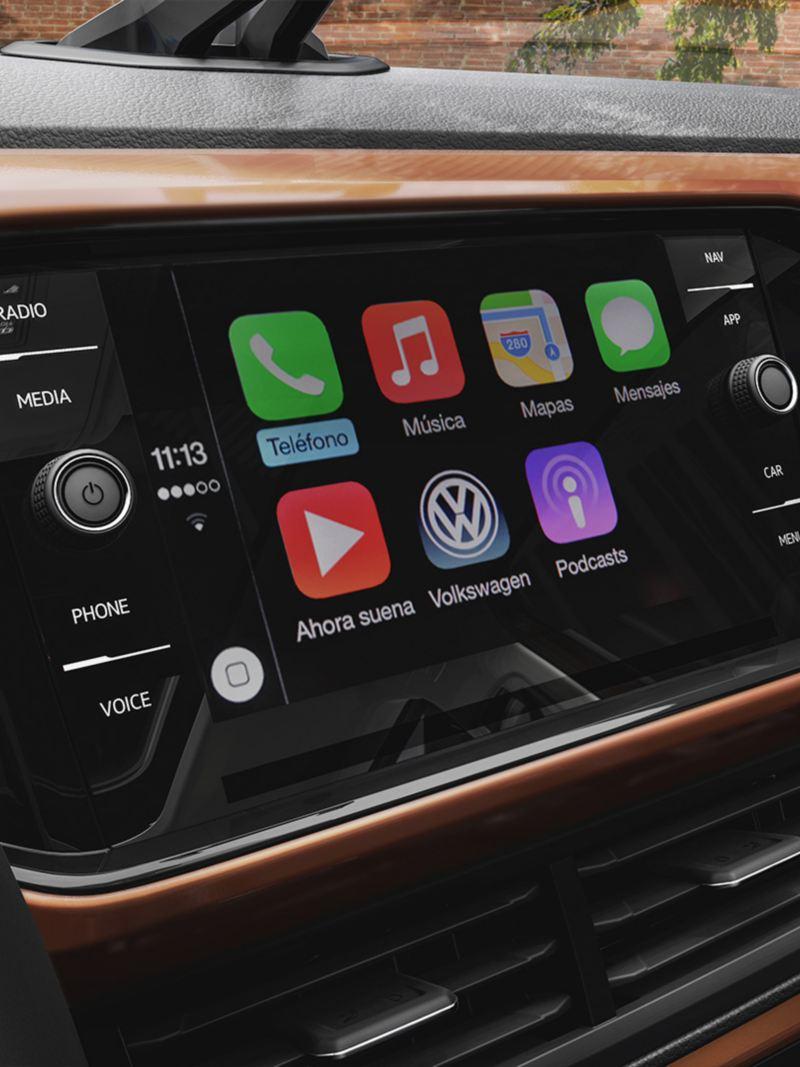 App Connect en pantalla de T-Cross, el SUV más inteligente de VW México