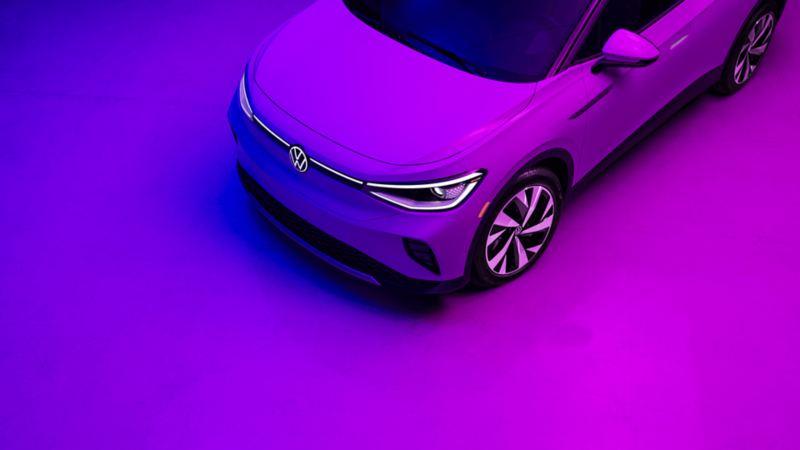 Volkswagen ID.4 - Vue du haut, lien vers la page de présentation de la VW ID.4