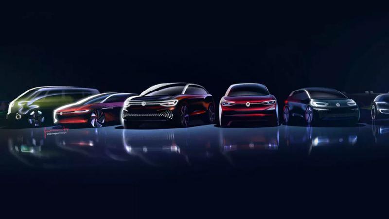 Véhicules électriques VW, lien vers la page « L'avenir est électrique »