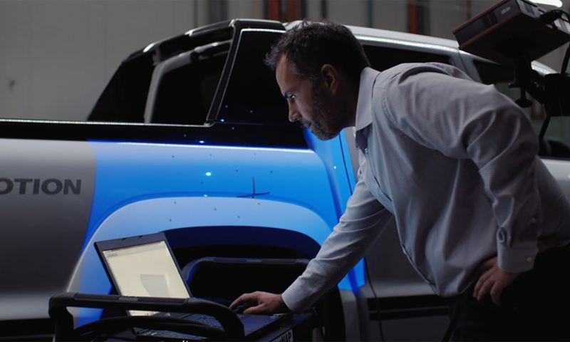 Close up of Walkinshaw badge on tailgate of Volkswagen Amarok W-Series