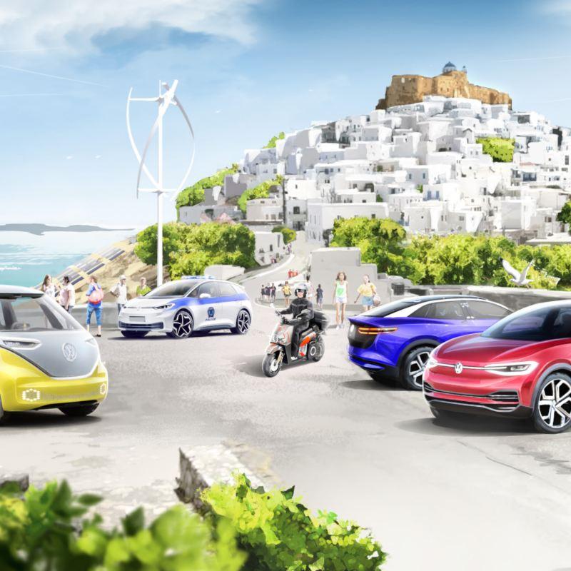 Koncern Volkswagen i rząd Grecji na jednej z wysp Morza Egejskiego tworzą modelowy system mobilności neutralnej dla klimatu