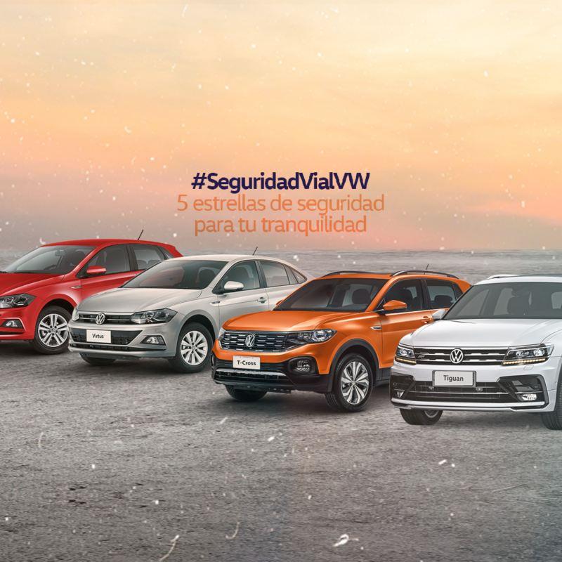 VW - SecuridadVialVW - 5 estrellas de securidad para tu tranquilidad