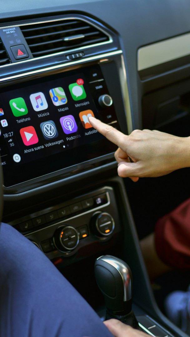 Pantalla con App-Connect para conectar tu celular a tu auto Volkswagen