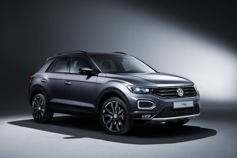 The VW T-Roc in the black style package