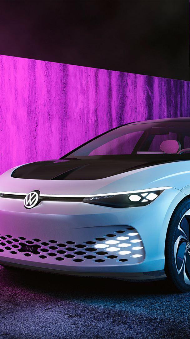 Volkswagen ID Vizzion visto desde la parte delantera
