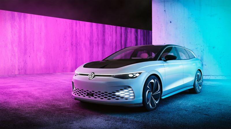 O Volkswagen ID. SPACE VIZZION visto de frente.