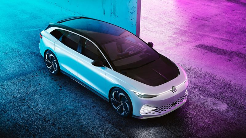 The exterior of the Volkswagen ID. SPACE VIZZION