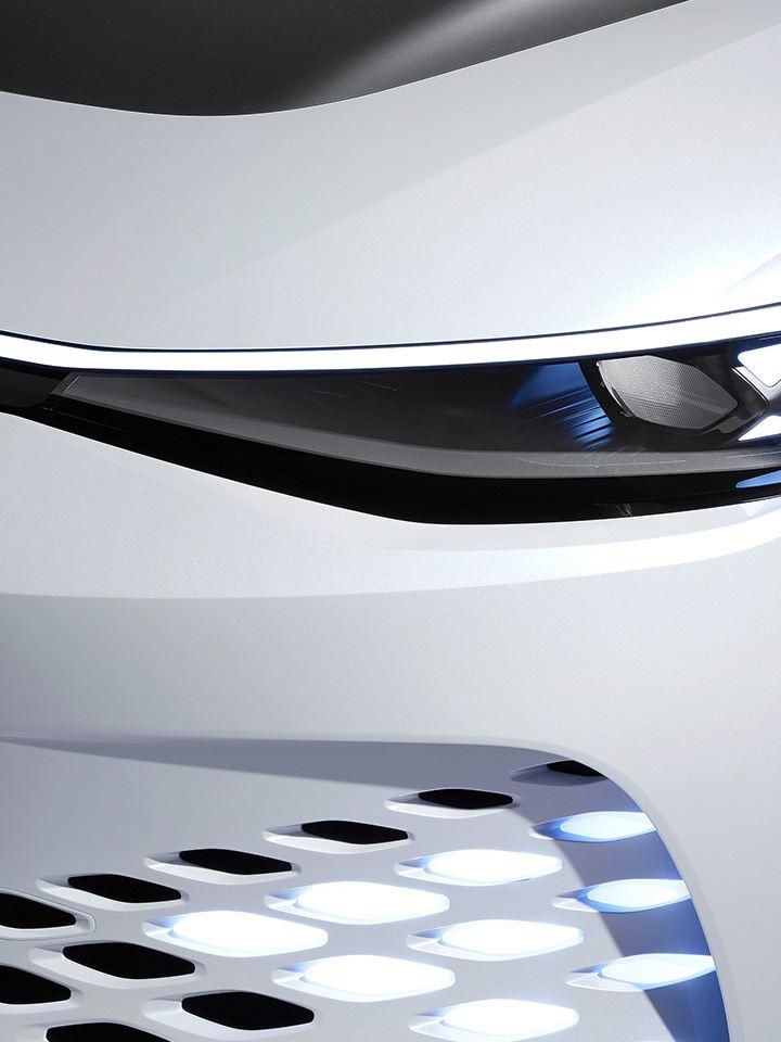 A frente do protótipo Volkswagen ID. SPACE VIZZION