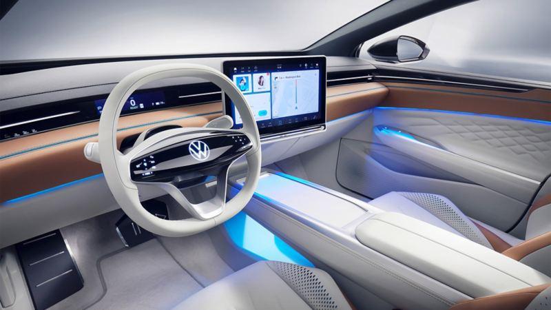 Den digitala instrumentpanelen i Volkswagen ID. SPACE VIZZION