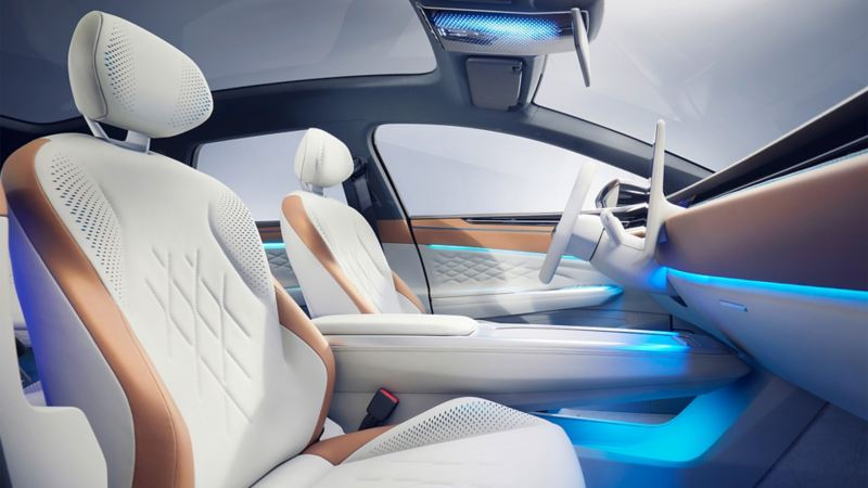 The interior of the Volkswagen ID. SPACE VIZZION