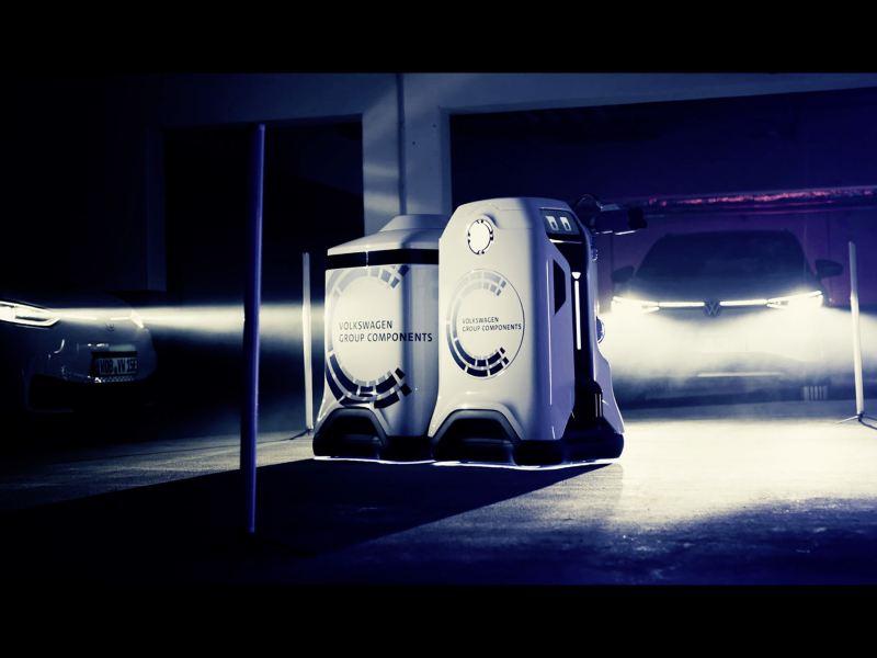 Mobilny robot ładujący – wizja automatycznego ładowania samochodów elektrycznych