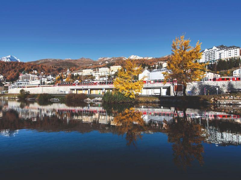 Widok na St. Moritz.