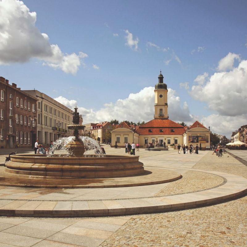 Rynek Kościuszki w Białymstoku.