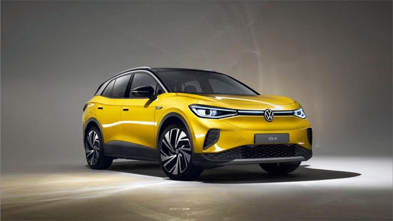 Yellow Volkswagen ID.4 – Front View