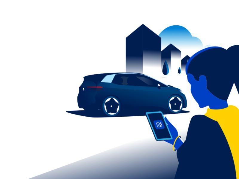 Die EV Check App auf dem Smartphone