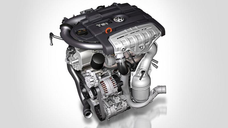 Silnik benzynowy TSI Volkswagena Golfa