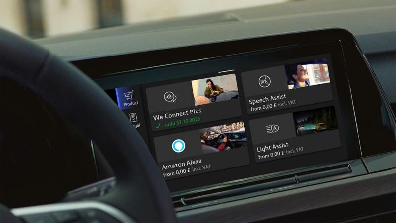Las funciones como App-Connect, el navegador o el asistente dinámico de luz se pueden activar posteriormente a través de We Upgrade.