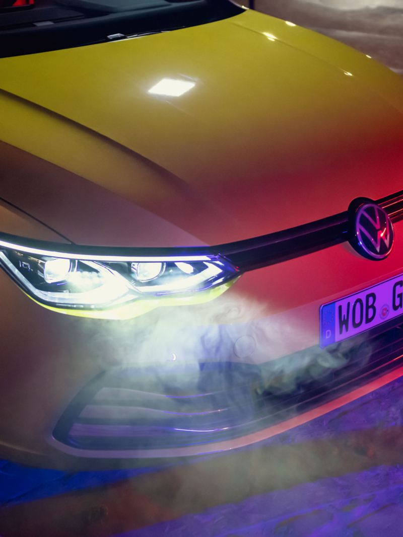 VW Golf front view with IQ.LIGHT