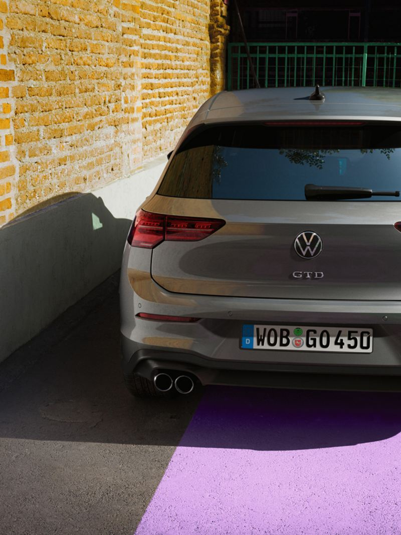 Parte posteriore della VW Golf GTD