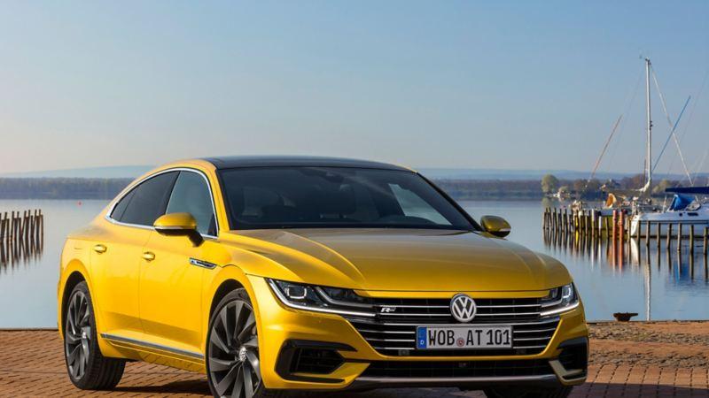 Panorama eines parkenden Volkswagen