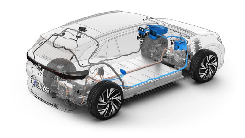 Illustrasjon VW ID.4 programvareoppdatering