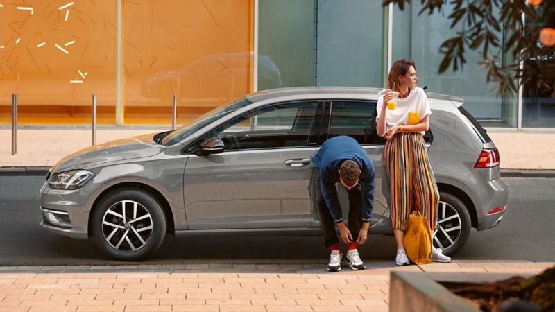 Side or rear view VW Golf eTSI