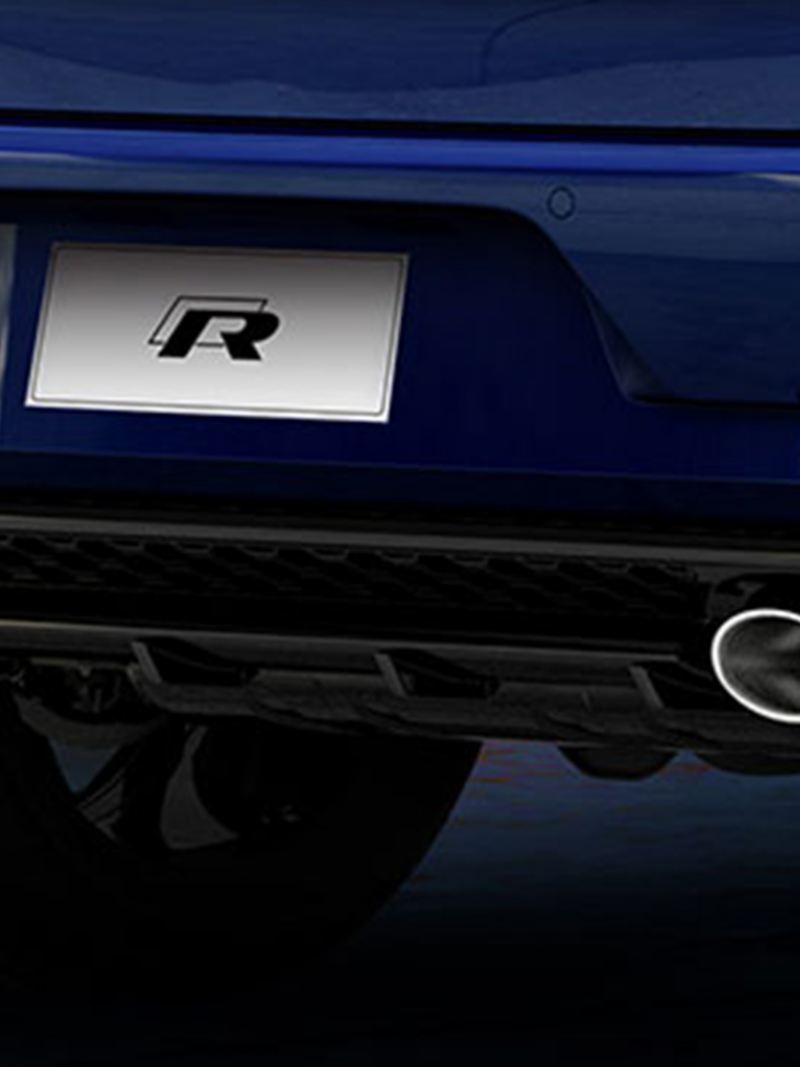 Escape trasero de Golf R - La edición especial del auto deportivo Volkswagen