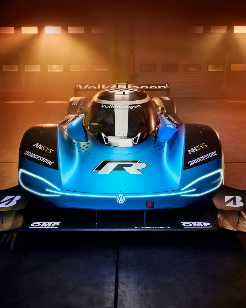 Volkswagen ID.R, electric race car, warehouse