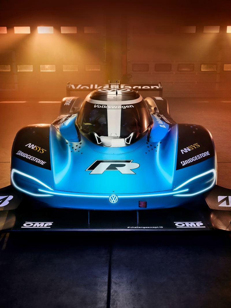 Volkswagen ID.R, voiture de course à propulsion électrique, dépôt