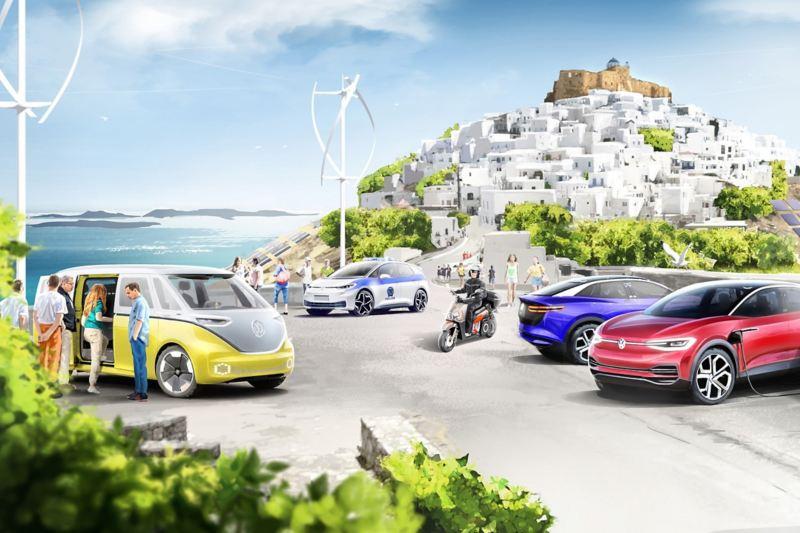 gemensamt projekt för klimatneutral mobilitet på grekisk ö