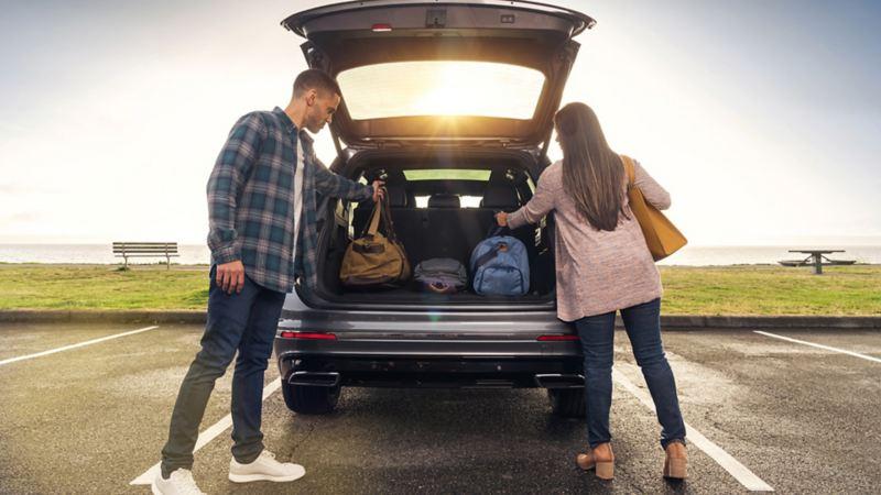 Capacité de chargement du VUS VW Tiguan 5 places avec sièges arrière rabattus